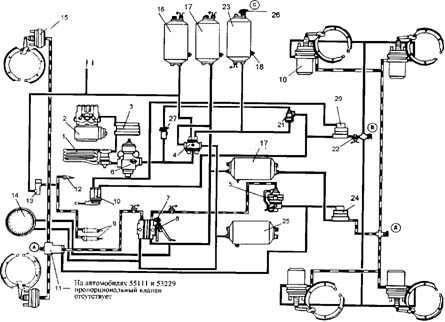 Воздушная система маз схема